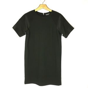 VINCE. Crepe Short Sleeve Quilted Shift Dress XS